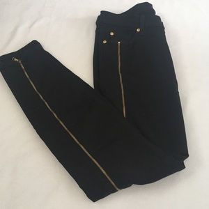 7 For All Mankind Black Jean With Zipper D…